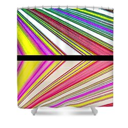 Abstract Fusion 221 Shower Curtain by Will Borden