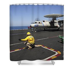 An E-2c Hawkeye Launches Shower Curtain by Stocktrek Images