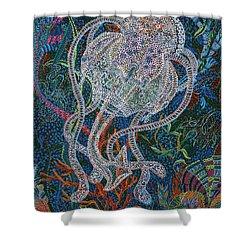 Aquatic Apparition  Shower Curtain by Erika Pochybova