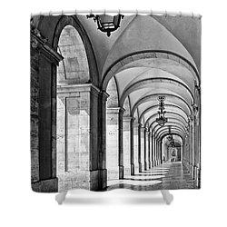 Arcades Of Lisbon Shower Curtain by Jose Elias - Sofia Pereira