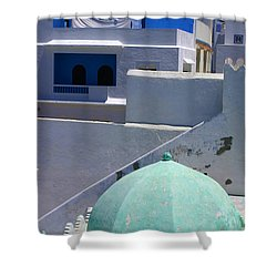 Shower Curtain featuring the photograph Asilah Meaning Authentic In Arabic Fortified Town On Northwest Tip Of Atlantic Coast Of Morocco by Ralph A  Ledergerber-Photography
