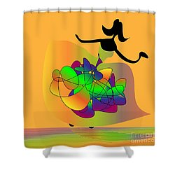 At The Prom Shower Curtain by Iris Gelbart