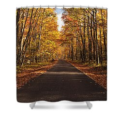 Autumn Drive Shower Curtain by Andrew Soundarajan