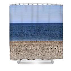 Color Bars Beach Scene Shower Curtain
