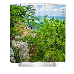 Beautiful Aerial Landscape Views From Crowders Mountain North Ca Shower Curtain
