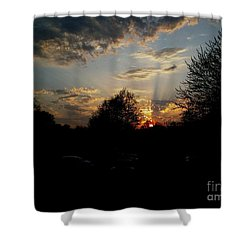 Beauty In The Sky Shower Curtain by Kelly Awad