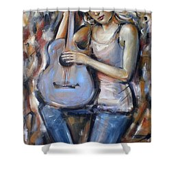 Blue Guitar 010709 Shower Curtain