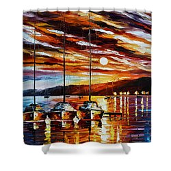 3 Borthers Shower Curtain by Leonid Afremov