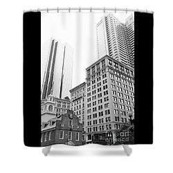 Boston Cityscape Shower Curtain
