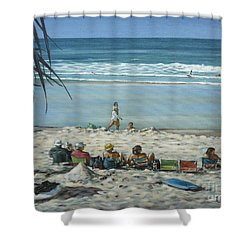 Burleigh Beach 220909 Shower Curtain