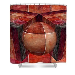 3 By 3 Lava Geometric Shapes Shower Curtain