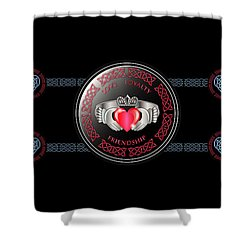 Celtic Claddagh Ring Shower Curtain