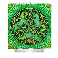 3 Celtic Irish Horses Shower Curtain