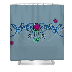 Celtic Thistle Shower Curtain