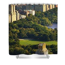 Central Park Shower Curtain by Brian Jannsen