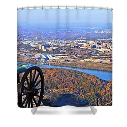 Chattanooga In Autumn Shower Curtain by Melinda Fawver