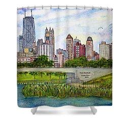 Chicago Skyline Shower Curtain by Janet Immordino
