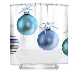 Christmas Ornaments Shower Curtain by Elena Elisseeva