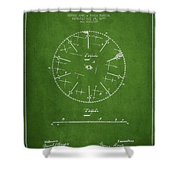 Circular Saw Patent Drawing From 1899 Shower Curtain by Aged Pixel