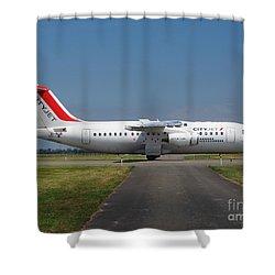 Cityjet British Aerospace Avro Rj85 Shower Curtain by Paul Fearn
