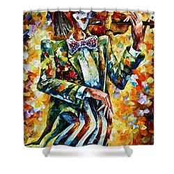 Clown Shower Curtain by Leonid Afremov