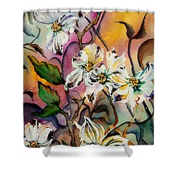 Dance Of The Dogwoods Shower Curtain by Lil Taylor