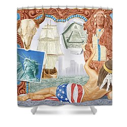 Destruction Of Native America Shower Curtain