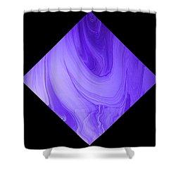 Diamond 129 Shower Curtain by J D Owen