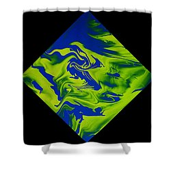 Diamond 210 Shower Curtain by J D Owen