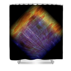 Diamond 215 Shower Curtain by J D Owen