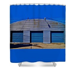 Shower Curtain featuring the photograph 3 Doors by Daniel Thompson