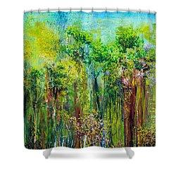 Edge Of Eden Shower Curtain by Regina Valluzzi