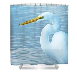 Egret  Shower Curtain by Lizi Beard-Ward
