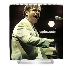 Elton John Shower Curtain by Concert Photos