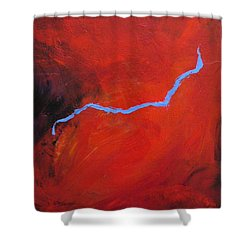 Torso Fire And Ice Shower Curtain
