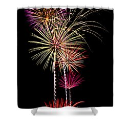 Fireworks  Shower Curtain by Saija  Lehtonen