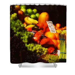 Shower Curtain featuring the photograph 3 For 2 Dollars by Miriam Danar