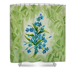 For-get-me-nots Shower Curtain