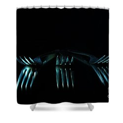 Shower Curtain featuring the photograph 3 Forks by Randi Grace Nilsberg