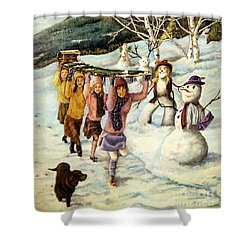 Frosty Frolic Shower Curtain