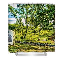 Gettysburg Battleground Shower Curtain by Bob and Nadine Johnston