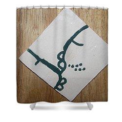 Grace - Tile Shower Curtain by Gloria Ssali