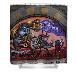 Graffiti House Shower Curtain by Brian Roscorla