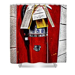 Grungy Fire Extinguisher Shower Curtain