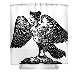 Harpy, Legendary Creature Shower Curtain by Photo Researchers