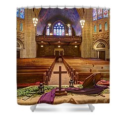 Hennepin Avenue Methodist Church Shower Curtain by Amanda Stadther