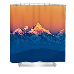 Himalayan Mountains View From Mt. Shivapuri Shower Curtain by Ulrich Schade