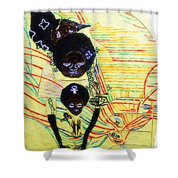 Holy Family Shower Curtain by Gloria Ssali
