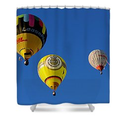 3 Hot Air Balloon Shower Curtain by John Swartz