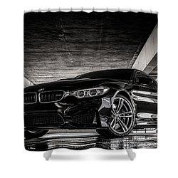 Shower Curtain featuring the digital art I Take Mine Black by Douglas Pittman
